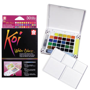 Sakura Koi Watercolor Field Sketch Box Set - 30 Color Palette