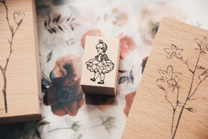 Krimgen Flower Girl Rubber Stamp