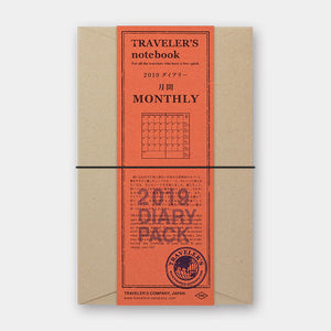TRAVELER'S Notebook - Regular Size - 2019 Monthly Diary Pack