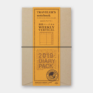 TRAVELER'S Notebook - Regular Size - 2019 Weekly Vertical Diary Pack