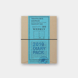 TRAVELER'S Notebook - Passport Size - 2019 Weekly Diary Pack