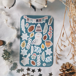 Labiri Winter Element Flake Stickers