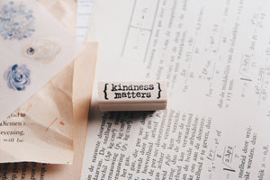 Catslife Press Kindness Matters Rubber Stamp