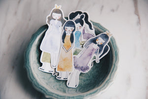 msbulat Sleepwalking Girls Stickers