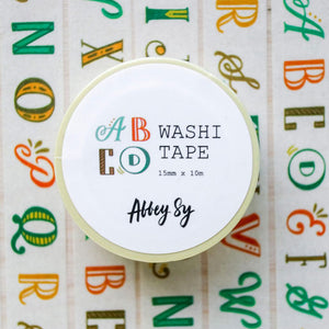 Abbey Sy Alphabet Washi Tape