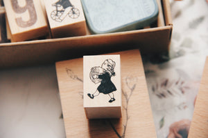 Krimgen Acorn Girl Rubber Stamp