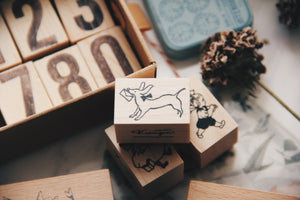 Krimgen Letter Dog Rubber Stamp