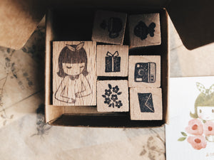 Kurukynki x Msbulat Nanami Rubber Stamp (set of 7)