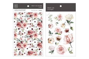 MU Print-On Stickers-038 Dusty Red Roses