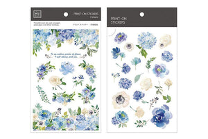 MU Print-On Stickers- Romantic Blue Rose 039