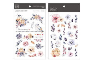 MU Print-On Stickers-040 Cold Colour Garden