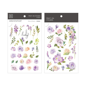 MU Print-On Stickers-071 Lilac Purple Roses