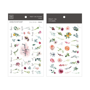 MU Print-On Stickers-072 Monthly Blooms
