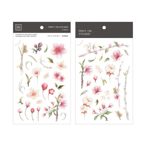 MU Print-On Stickers075 Cherry Blossoms