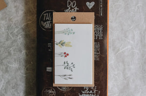 Dried Flower Sticky Notes A