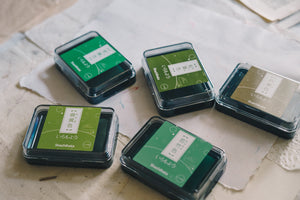 Shachihata Iromoyo Ink Pad (Greens) 24 Colours