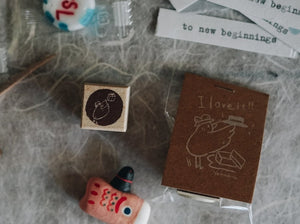 Yamadoro Catch the Gift Rubber Stamp