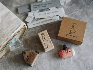 Yamadoro Ready? Go! Rubber Stamp