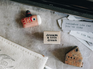 Catslife Press Dream a Little Dream Rubber Stamp