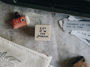 Catslife Press Life is in the Journey Rubber Stamp