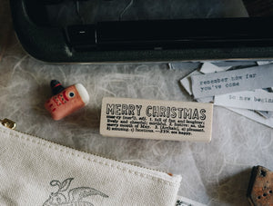Catslife Press Merry Christmas Rubber Stamp