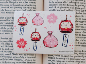 Black Milk Project Mini Sticker Sheet - Neko Daruma