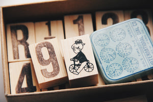 Krimgen Little Girl Cycling Rubber Stamp