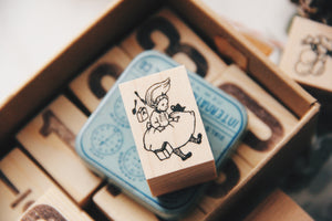 Krimgen Alice Falling Down Rubber Stamp