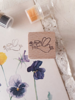 msbulat Flower of Happiness Rubber Stamp