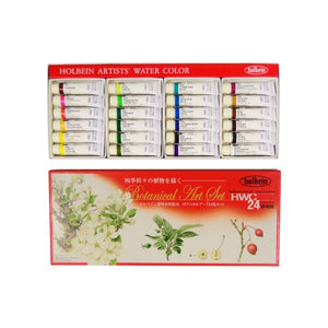 Holbein Artists' Watercolor Series 24 Color Botanical Art Set - 5ml tubes