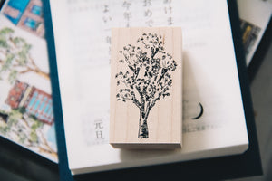 Cat City: Common Tree Rubber Stamp