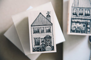 Cat Village: Derby House Rubber Stamp