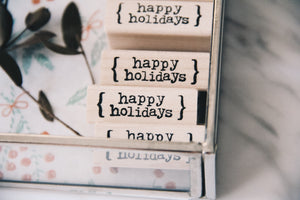 Catslife Press Happy Holidays Rubber Stamp