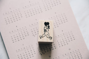Krimgen Little Heart Girl Rubber Stamp