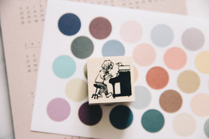 Krimgen Little Piano Maestro Rubber Stamp