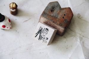 Cat City: Painter Dali Rubber Stamp