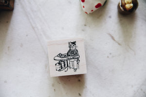 Cat City: Café Peter Rubber Stamp