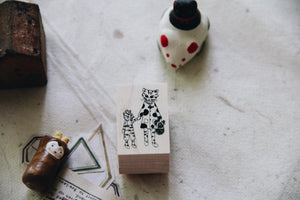 Cat City: Alex and Romeo Rubber Stamp