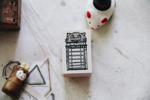 Cat City: Cat-ear Phone Booth Rubber Stamp