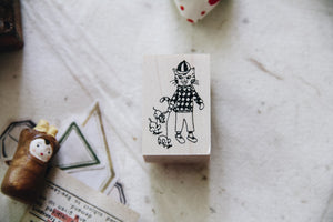Cat Village: Ted Derby Rubber Stamp