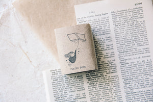 Black Milk Project Rubber Stamp - Flying Book