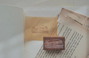 Jieyanow Slow Living: Old Books Rubber Stamp