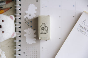 Black Milk Project Rubber Stamp - Mini Jar: Flower