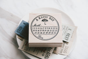 Catslife Press A Rainy Day Rubber Stamp