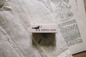 Catslife Press A Little Note Rubber Stamp
