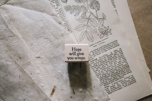 Catslife Press Hope Will Give You Wings Rubber Stamp