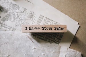 Catslife Press I Miss Your Face Rubber Stamp