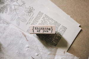 Catslife Press Thinking of You Rubber Stamp