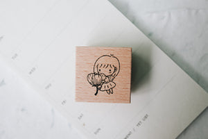 Thumbelina Mini Girls Rubber Stamp: Flower Fairy