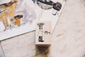 Mushrooms and Dwarfs: Chanterelle Girl Rubber Stamp